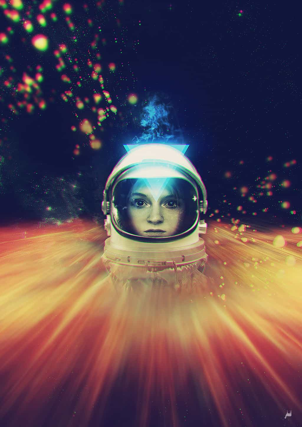 Illustration of women in space by Voila Vala
